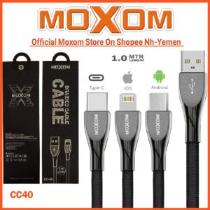 Moxom CC-40 2.4a Fast Charging & Data sync High Quality Braided Nylon 1m Cable